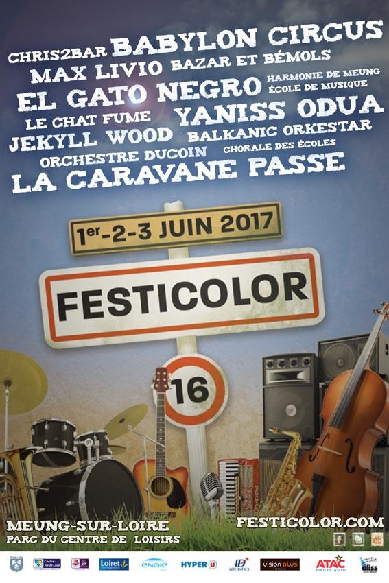 Flyer du programme Festicolor 2017