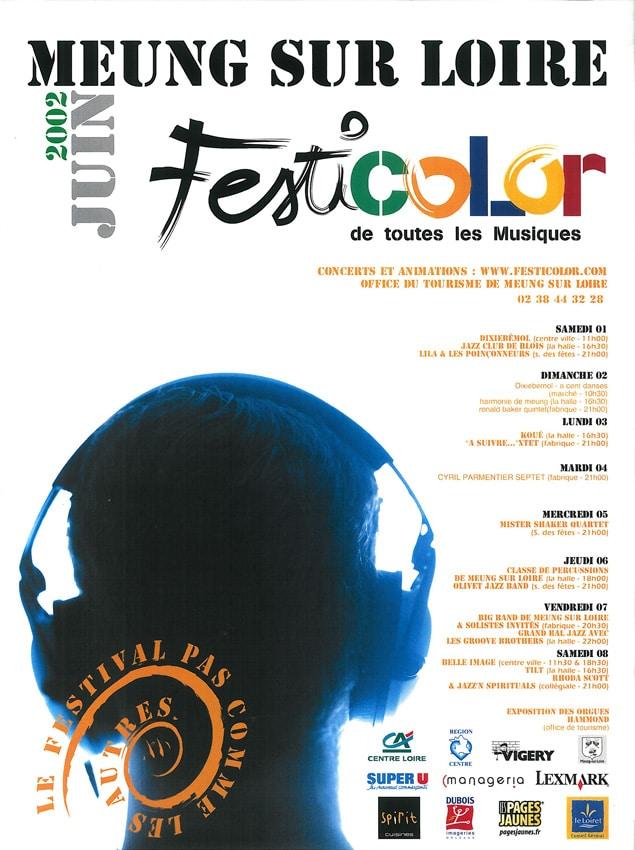 affiche du festival festicolor 2002