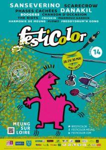 Affiche de l'édition 2015 du festival Festicolor © Festicolor