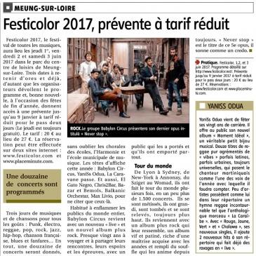 article 12/12/2016 – Festicolor 2017, prévente à tarif réduit