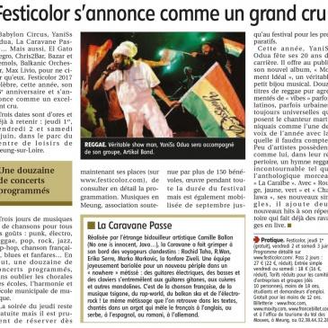 article 22/04/2017 – Festicolor s'annonce comme un grand cru