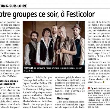 article 02/06/2017 – Quatre groupes ce soir, à Festicolor