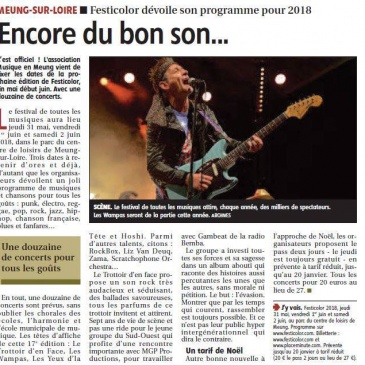 article 11/11/2017 – Festicolor dévoile son programme pour 2018