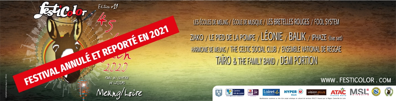 Bandeau Festicolor 2020 annulation